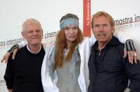 Director Paul Morissey, Veruschka and Director Berndt Boehm at the 62nd Venice Film Festival.