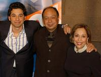 Al Madrigal, Cheech Marin and Renee Victor at the Fox Upfront Previews 2003-2004.