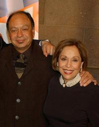 Cheech Marin and Renee Victor at the Fox Upfront Previews 2003-2004.