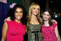 Christina Vidal, Lindsay Lohan and Haley Hudson at the premiere of