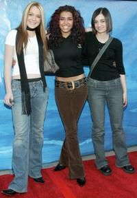 Lindsay Lohan, Christina Vidal and Haley Hudson at the premiere of