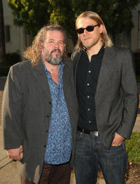 Mark Boone, Jr. and Charlie Hunnam at the Season 2 California premiere of