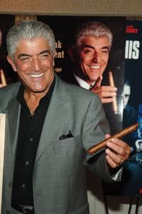 Frank Vincent at the celebration for Vincent's new book