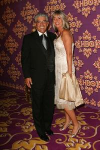 Frank Vincent and wife  at the HBO Emmy after party.