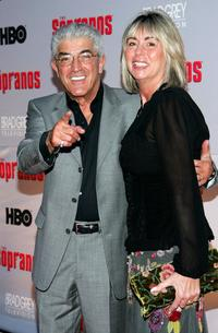 Frank Vincent and his wife Kathleen at the premiere of