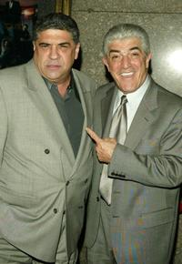 Frank Vincent and Vincent Pastore at the fifth season premiere of 'The Sopranos' at Radio City Music Hall.