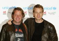 Charley Boorman and Ewan McGregor at the Unicef charity auction in London.