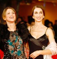 Isabella Ragonese and Giselda Volodi at the premiere of