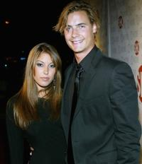 Erik Von Detten and Vanessa Cruz at the Showtime Emmy after party.