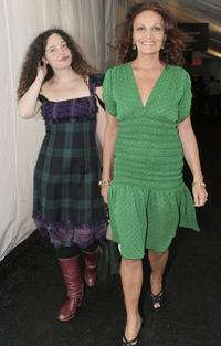Tatiana Von Furstenberg and Diane Von Furstenberg at the Olympus Fashion Week Fall 2006.