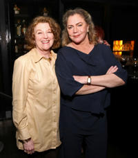 Rebecca Wackler and Kathleen Turner at the after party of the premiere of