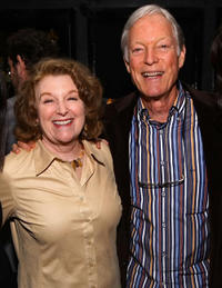 Rebecca Wackler and Richard Chamberlain at the after party of the premiere of