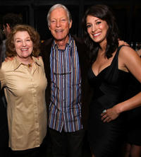 Rebecca Wackler, Richard Chamberlain and Angelique Cabral at the after party of the premiere of