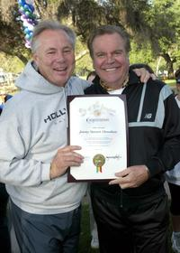 Robert Wagner and Tom LaBonge at the 24th Annual Saint Johns Jimmy Stewart Relay Marathon.