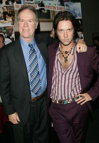 Loudon Wainwright III and Rufus Wainwright at the premiere of