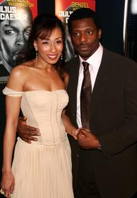 Tamara Tunie and Eamonn Walker at the opening of