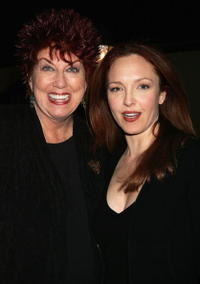Marcia Wallace and Amy Yasbeck at the celebrity opening night of the Broadway bound show