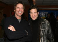 Director Hart Bochner and Dylan Walsh at the premiere of