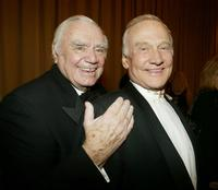 Ernest Borgnine and Buzz Aldrin at the World May Hear Awards Gala.