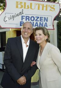 Jessica Walter and Jeffrey Tambor pose at a cocktail party and script reading for FOX-TV's
