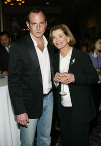 Jessica Walter and Will Arnett at the FOX 2004 Winter Press Tour.