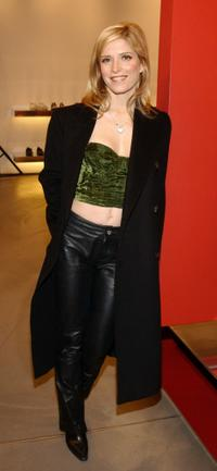 Melora Walters at the party hosted by the Miu Miu store.