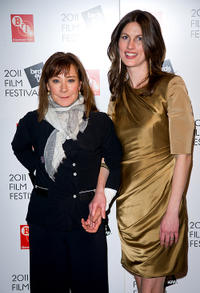 Zoe Wanamaker and Rachel Millward at the opening night of the Birds Eye View Film Festival in England.