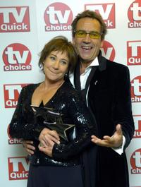 Zoe Wannamaker and Robert Lindsay at the TV Quick and TV Choice awards.