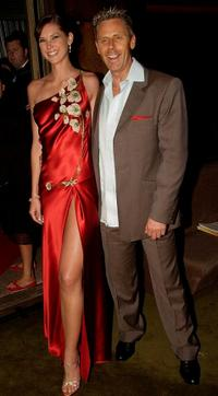 Nikki Phillips and Jonathan Ward at the Mercedes Australian Fashion Week official opening night.