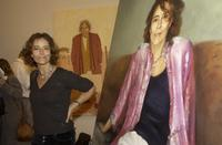 Rachel Ward at the 2003 Packing Room Prize with the winning portrait.