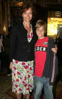 Rachel Ward and her son Joe Brown at the opening night of Tap Dogs new show