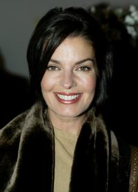 Sela Ward at the cocktail party for the Denim and Diamonds Spring 2005 show at the Mercedes-Benz Fashion Week.
