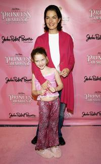 Sela Ward and her daughter Anabella Sherman at the Princess Diaries 2: Royal Enagement DVD Pajama Party.