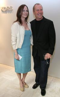 Lesley Ann Warren and Michael Kors at the fashion show at Nieman Marcus.
