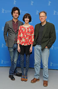 Hamish Linklater, Miranda July and David Warshofsky at the photocall of