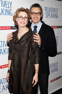 Katherine Borowitz and John Turturro at the Broadway opening night of