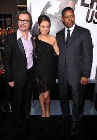 Gary Oldman, Mila Kunis and Denzel Washington at the California premiere of