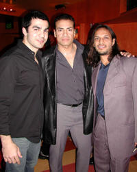 Ojani Noa, Benny Nieves and Jesse Borrego at the after party of the California premiere of