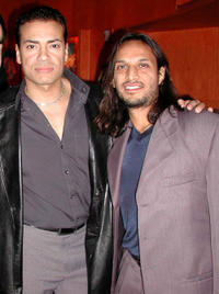 Benny Nieves and Jesse Borrego at the after party of the California premiere of