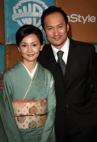Ken Watanabe and wife Kaho Minami at the In Style Magazine and Warner Bros. Studios Golden Globe After Party.