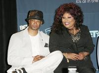 Damon Wayans and Chaka Khan at the BET Awards 2006 Nominees Anouncement.