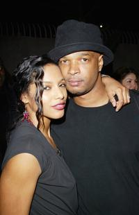 Damon Wayans and girlfriend Charity Duplechan at the wrap party for ABCs