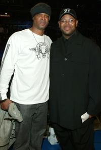 Damon Wayans and Jimmy Jam at the 2004 NBA All-Star Game.