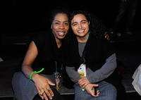 Kim Wayans and Guest at the 2011 Sundance Film Festival Awards Night party.