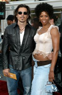 Kim Wayans and her boyfriend at the premiere of