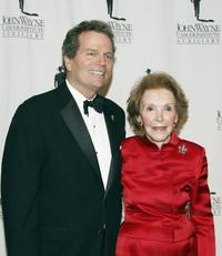Patrick Wayne and Nancy Reagan at the John Wayne Cancer Institute Auxiliary's 21st Annual Odyssey Ball.