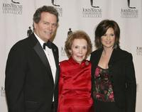 Patrick Wayne, Nancy Reagan and Colleen Williams at the John Wayne Cancer Institute Auxiliary's 21st Annual Odyssey Ball.