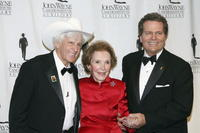 Dean Smith, Nancy Reagan and Patrick Wayne at the John Wayne Cancer Institute Auxiliary's 21st Annual Odyssey Ball.