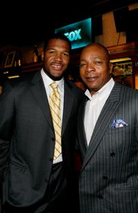 Michael Straham and Carl Weathers at the Fox's Upfront presentation.