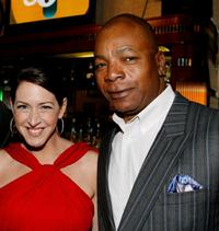 Joely Fisher and Carl Weathers at the Fox's Upfront presentation.